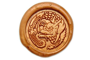 Japanese Kamon Dragon Ryu Wax Seal Stamp - Wax Seal Stamp - Backtozero