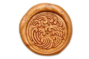 Japanese Kamon Nami Waves Wax Seal Stamp - Wax Seal Stamp - Backtozero