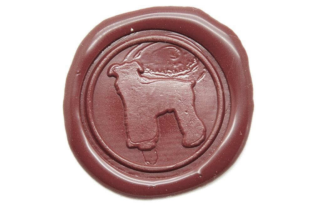 Schnauzer Wax Seal Stamp, Backtozero  - 2
