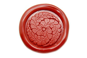 Japanese Kamon Fuji Floral Deco Wax Seal Stamp - Wax Seal Stamp - Backtozero