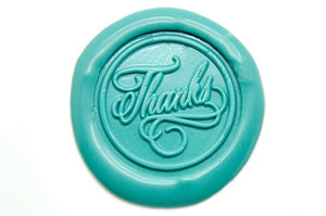 Thanks Wax Seal Stamp, Backtozero  - 2