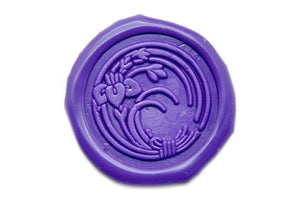 Japanese Kamon Kakisubata Flower Wax Seal Stamp - Wax Seal Stamp - Backtozero