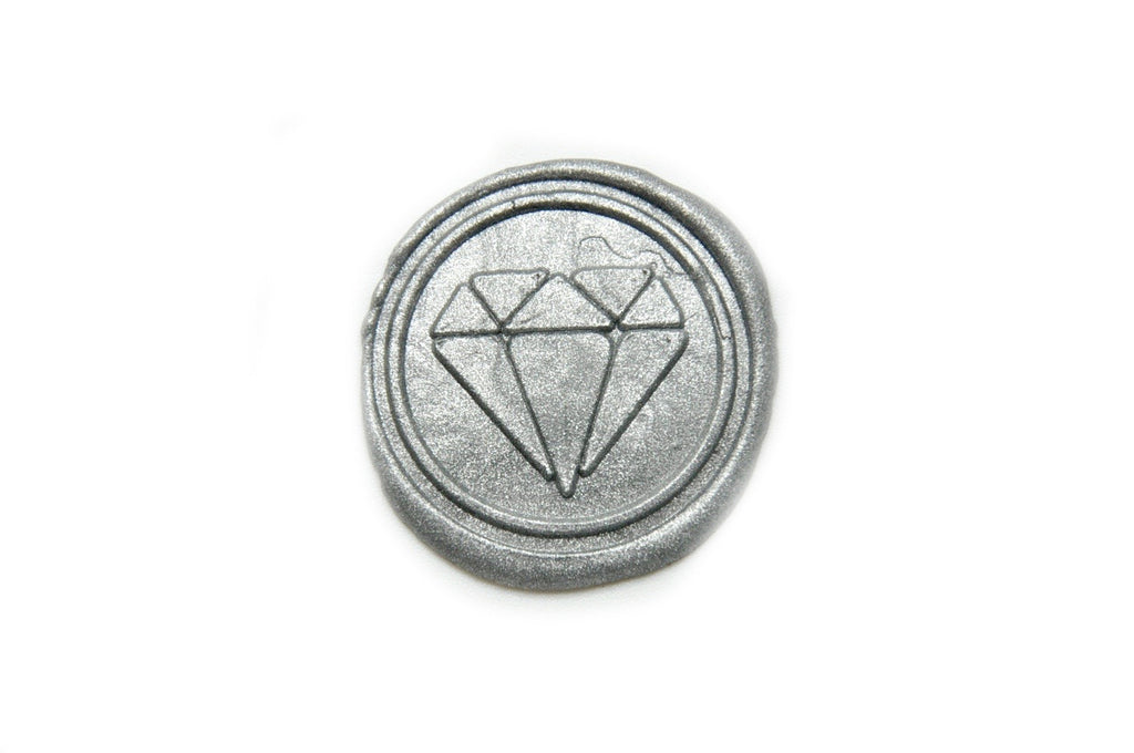 Diamond Wax Seal Stamp | Available in 4 Sizes - Wax Seal Stamp - Backtozero
