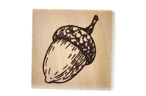 Botanical Rubber Stamp | Acorn - Rubber Stamp - Backtozero