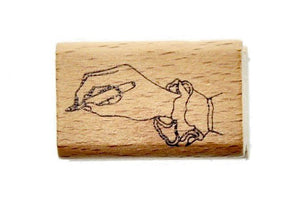 Hand Gesture Rubber Stamp | Write - Rubber Stamp - Backtozero