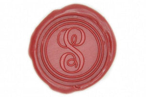 Initial Monogram Wax Seal Stamp - Wax Seal Stamp - Backtozero