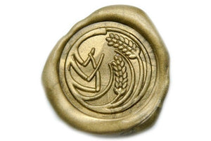 Wheat Wax Seal Stamp, Backtozero  - 1