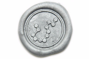 Constellation Aquarius Wax Seal Stamp - Wax Seal Stamp - Backtozero