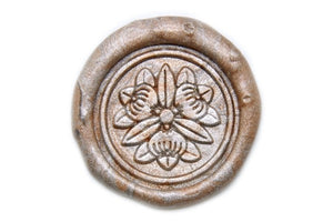 Floral Deco Wax Seal Stamp, Backtozero  - 1