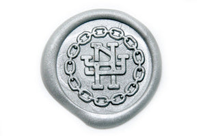 Interlock Monogram Chain Wax Seal Stamp, Backtozero  - 1