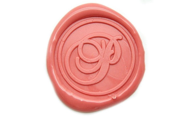 Initial Monogram Wax Seal Stamp | Available in 4 Sizes, Backtozero  - 1