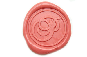 Initial Monogram Wax Seal Stamp | Available in 4 Sizes - Wax Seal Stamp - Backtozero
