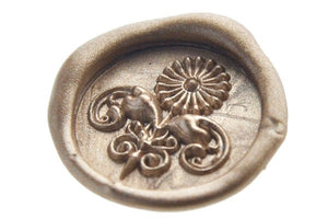 3D Flower Deco Wax Seal Stamp - Wax Seal Stamp - Backtozero