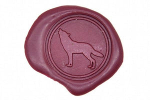 Howling Wolf Wax Seal Stamp - Wax Seal Stamp - Backtozero