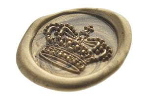 3D Royal Crown Wax Seal Stamp - Backtozero