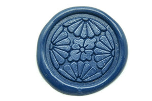 Japanese Kamon Bukkaku Floral Ball Deco Wax Seal Stamp - Wax Seal Stamp - Backtozero