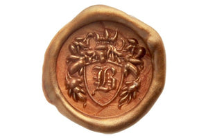 3D Custom Initial Crest Wax Seal Stamp - Wax Seal Stamp - Backtozero