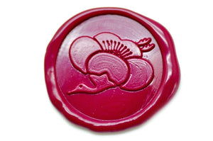 Japanese Kamon Ume Plum Flower Crane Wax Seal Stamp - Wax Seal Stamp - Backtozero