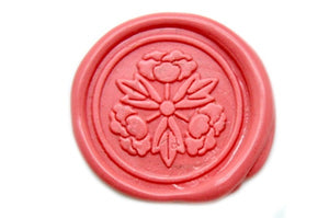 Japanese Kamon Botan Peony Wax Seal Stamp - Wax Seal Stamp - Backtozero
