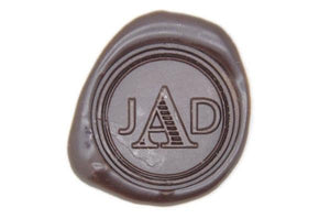 Triple Initials Monogram Wax Seal Stamp - Wax Seal Stamp - Backtozero