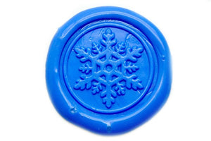 Snowflake Wax Seal Stamp | Available in 4 Sizes, Backtozero  - 1