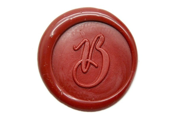 personalized copperplate calligraphy initial wax seal stamp