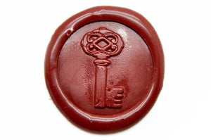 Vintage Key Wax Seal Stamp, Backtozero  - 1