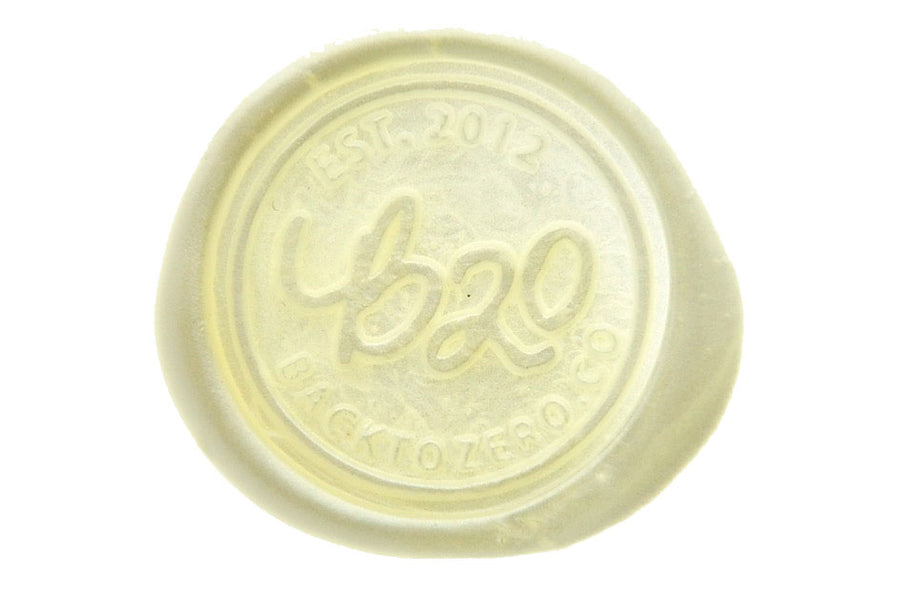 Pearl White Octagon Sealing Wax Beads