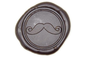 Mustache Wax Seal Stamp - Wax Seal Stamp - Backtozero