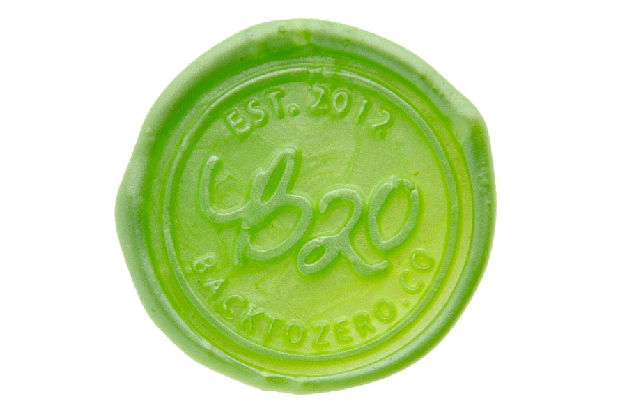 Metallic Apple Green Octagon Sealing Wax Beads