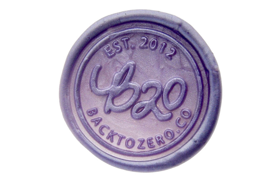 Metallic Purple Octagon Sealing Wax Beads