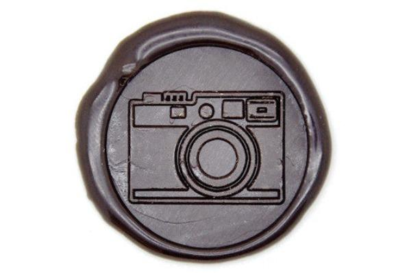 Retro Camera Wax Seal Stamp, Backtozero  - 1