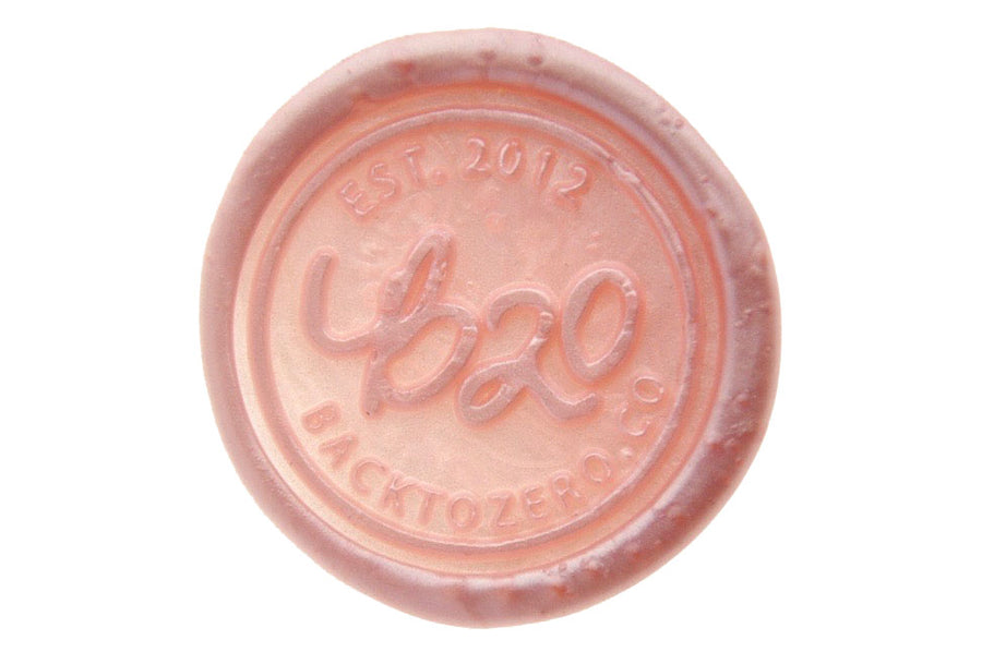 Metallic Pink Octagon Sealing Wax Beads