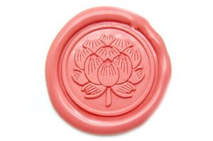 Japanese Kamon Hasu Lotus Wax Seal Stamp - Wax Seal Stamp - Backtozero