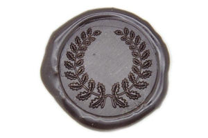 Wreath Wax Seal Stamp - Wax Seal Stamp - Backtozero