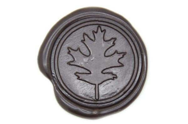 Oak Leaf Wax Seal Stamp, Backtozero  - 1