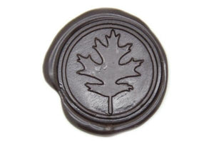 Oak Leaf Wax Seal Stamp - Wax Seal Stamp - Backtozero