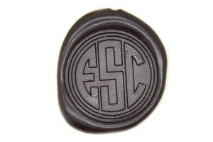 Triple Initials Circle Monogram Wax Seal Stamp - Wax Seal Stamp - Backtozero