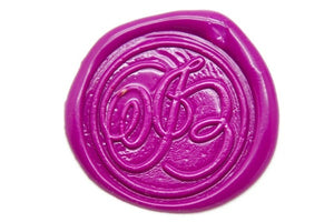 Suzanne Cunningham Calligraphy I Wax Seal Stamp | Available in 4 Sizes - Wax Seal Stamp - Backtozero