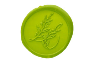 Botanical Monogram Wax Seal Stamp - Wax Seal Stamp - Backtozero