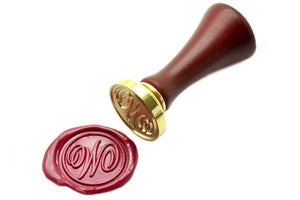 Suzanne Cunningham Calligraphy Initial Wax Seal Stamp | Available in 4 Sizes, Backtozero  - 3