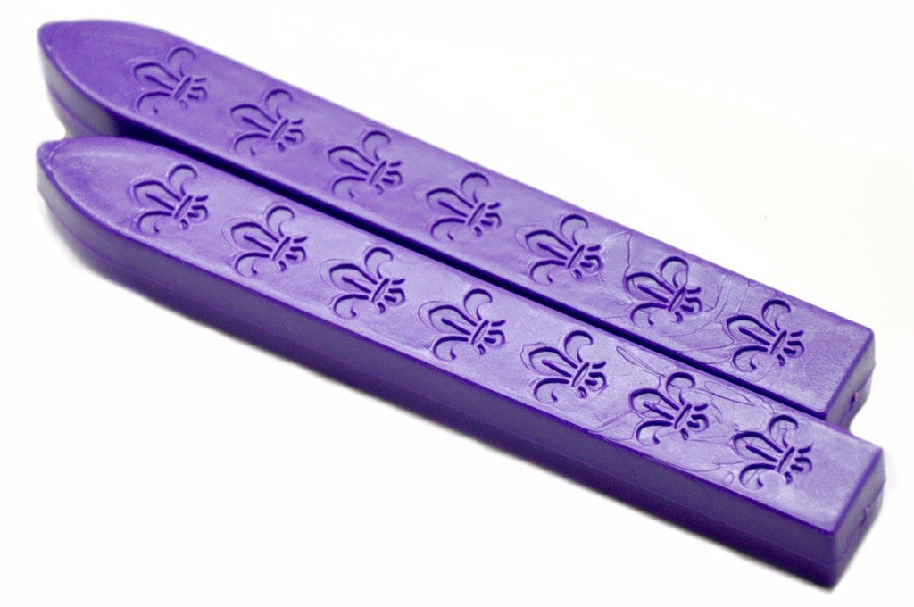 Purple Non-Wick Fleur Sealing Wax Stick, Backtozero  - 1