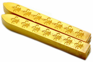Gold Non-Wick Fleur Sealing Wax Stick - Sealing Wax - Backtozero
