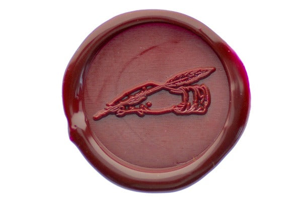 Writing Hand Outline Wax Seal Stamp - Wax Seal Stamp - Backtozero
