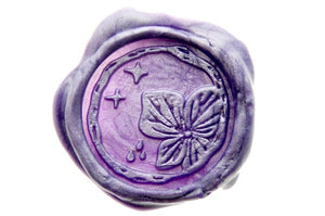 Hydrangea Stars Wax Seal Stamp Designed by Petra - Wax Seal Stamp - Backtozero