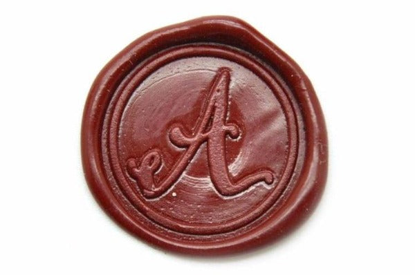 Calligraphy Initial Wax Seal Stamp | Available in 4 Sizes, Backtozero  - 5