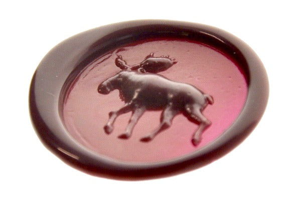 3D Moose Wax Seal Stamp - Wax Seal Stamp - Backtozero