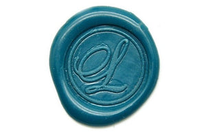 Script Initial Wax Seal Stamp | Available in 4 Sizes - Wax Seal Stamp - Backtozero