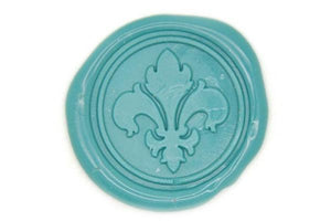 Filigree Fleur de Lis Wax Seal Stamp - Wax Seal Stamp - Backtozero