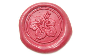 Hibiscus Wax Seal Stamp - Wax Seal Stamp - Backtozero